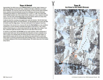 Eiger guidebook topo maps